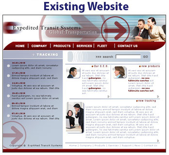 Your existing website
